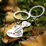 1 Pair Couple I LOVE YOU Letter Keychain