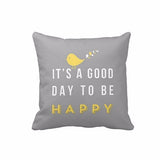 Yellow Bird Letter Square Pillow Case