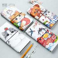 The AFU Cat PU Leather Cover Planner