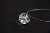 Real Flower Glass Ball Pendant Necklace