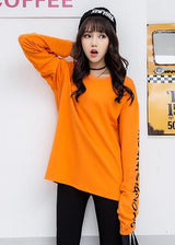 Long Sleeves Top with Lettering