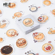 45 pcs/pack Cute Round Delicous Bread Decorative Stickers