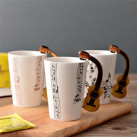 Novelty Guitar Ceramic Cup