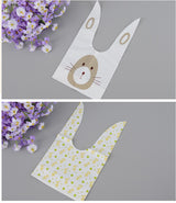 50 pieces / lot Cute Rabbit Ear Plastic Candy Gift Bag Box