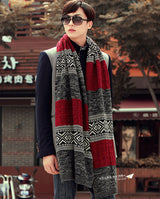 Men's Autumn and Winter Wool Cashmere Scarf