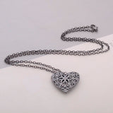 Hollow Heart Openable Locket Necklace