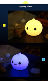 Mini Cartoon Silicone Water Drop Night Light
