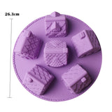1pc 6 Small House Silicone Cake Mold