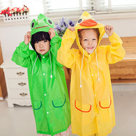 Children Animal Hood Raincoat