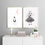 Girls Canvas Art Print Painting Poster