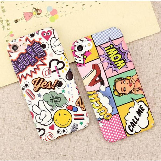 Comic Hard PC Phone Case