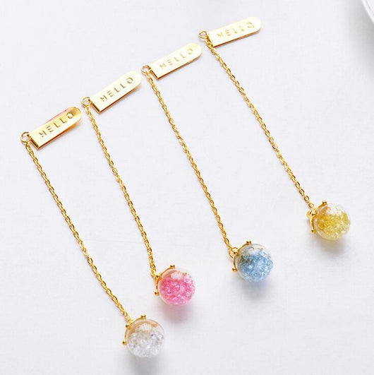 Creative Diamond Glaze Pendant Bookmark
