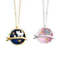 Symphony Cosmic Gem Kitten Necklace