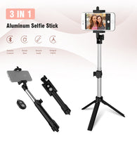 Bluetooth Phone Foldable Tripod Selfie Stick