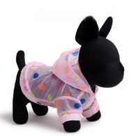 Soft Dog Raincoats colorful dots