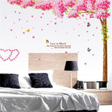Large Cherry blossoms Tree Butterfly Wall Decal