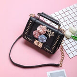 Mini Chain 3D Floral Crossbody Bag Purse