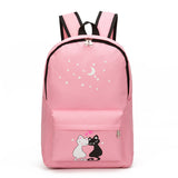 8Pcs Cute Animal Star Printing Backpack