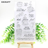 Coffee Time Transparent Clear Silicone Stamp