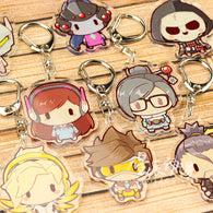 OVERWATCH double sided chibi keychain