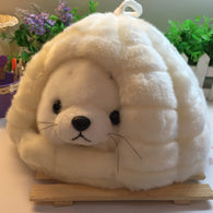 super cute plush toy cartoon sea lion with house
