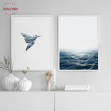 Bird and Sea Wall Art Canvas Painting