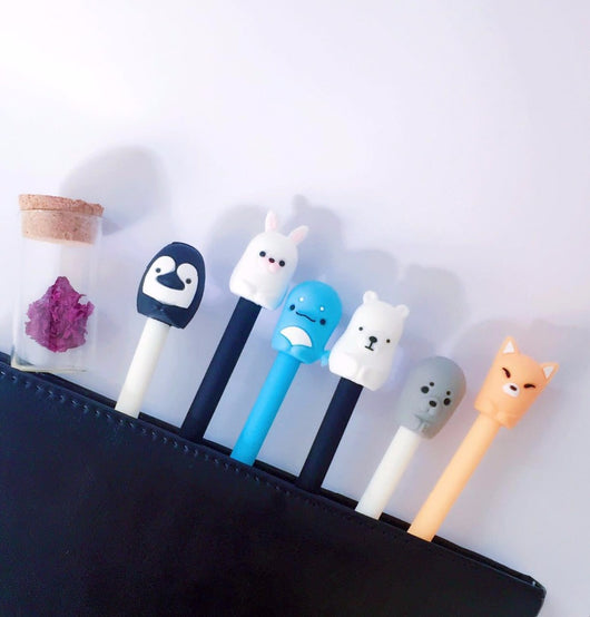 6 pcs/lot Creative Animal Gel Pen