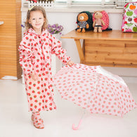 Children Colorful Pattern Raincoat