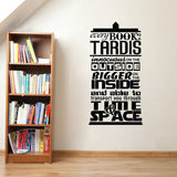 Every Book Is A Tardis Quote Decal