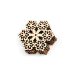 10 Pcs Wood Snowflake Embellishments Rustic Christmas Decorations