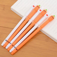 2 pcs/lot Because Of Love Couple Friend Carrot Gel Pen