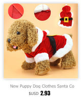 Christmas Dog Clothes Santa Costume