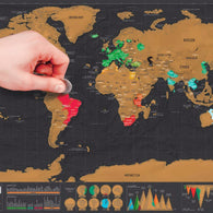 Scratch Off Colorful World Map Poster (82.5 x 59.5)