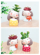 Cute Girl Succulent Plant Pot 4 Styles