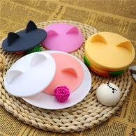 Creative Cute Cat Ears Silicone Insulation Cover
