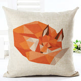 45X45 Creative Fashion Geometric Animal Throw Pillow Cover