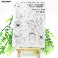 Wild Animals Transparent Clear Silicone Stamp