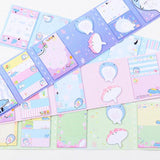 Lovely Happy Whale Folding Memo Pad