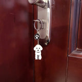 3 Color Poodle Key Chain