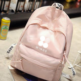 BTS WINGS canvas bag backpack three colors available