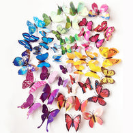 72 PCS Butterflies Wall Stickers