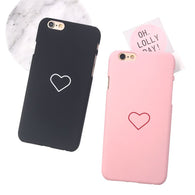 Love Heart Painted Phone Case