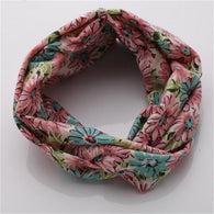 Winter Elastic Floral Prints Bandana Headband