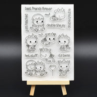 Cute Hatching Dinosaur Transparent Silicone Stamp