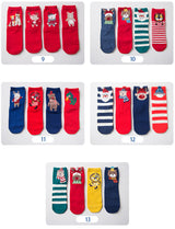 4 Pair/lot Christmas 3D Printed Socks