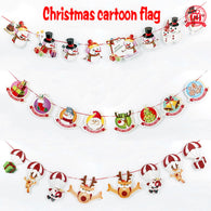 8pcs Christmas Hanging Flag Decorations