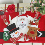 6Pcs/Lot Christmas Decorations Pocket Dinner Table
