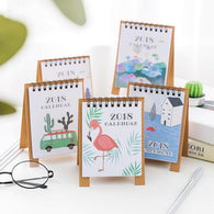 2018 Fresh Cartoon Mini Desktop Paper Calendar