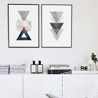 Nordic Style Vintage Geometric Canvas Art Print Poster