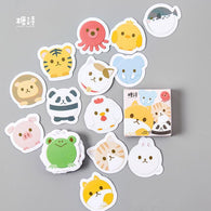 Lovely Roll Animal Label Stickers Set